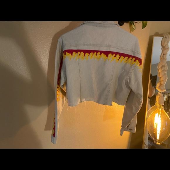Dolls Kill Jackets & Blazers - Cropped flame jacket